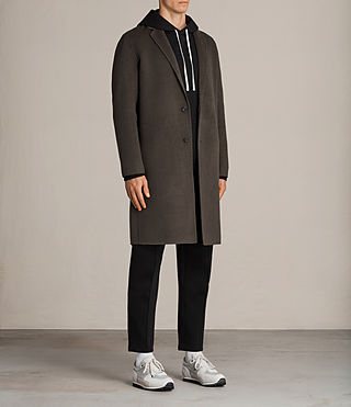 Uomo Cappotto Foley (Khaki Green) - product_image_alt_text_6