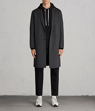 Mens Foley Coat (Charcoal Grey) - product_image_alt_text_1