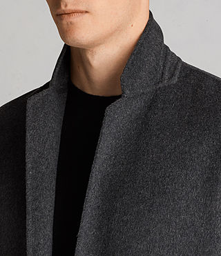 Mens Foley Coat (Charcoal Grey) - product_image_alt_text_2