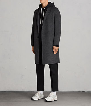 Mens Foley Coat (Charcoal Grey) - product_image_alt_text_3