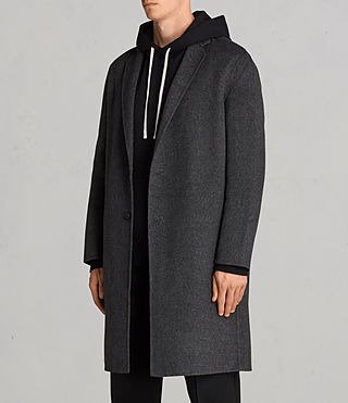Mens Foley Coat (Charcoal Grey) - product_image_alt_text_5