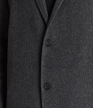 Mens Foley Coat (Charcoal Grey) - product_image_alt_text_7