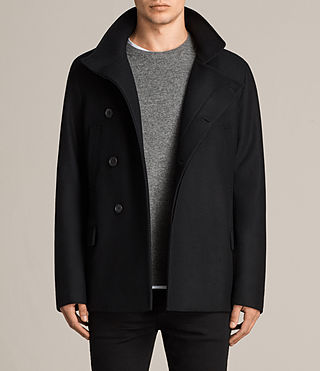 Mens Melrose Peacoat (Black) - Image 1