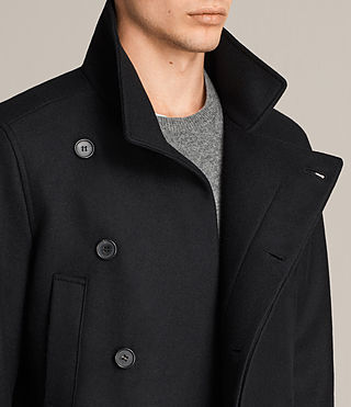 Mens Melrose Peacoat (Black) - Image 2
