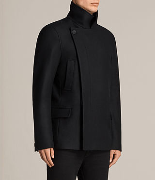 Mens Melrose Peacoat (Black) - Image 3