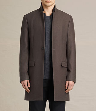 Mens Burren Coat (Khaki Green)