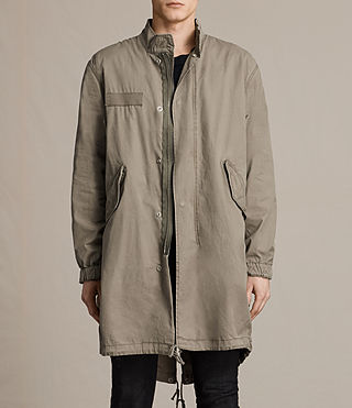 Mens Arlet Parka Coat (Light Khaki) - product_image_alt_text_1