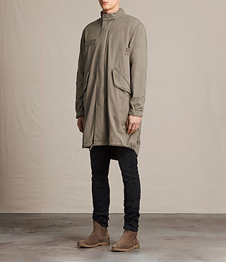 Mens Arlet Parka Coat (Light Khaki) - product_image_alt_text_3
