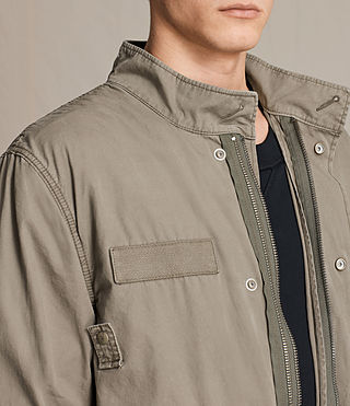 Mens Arlet Parka Coat (Light Khaki) - product_image_alt_text_4