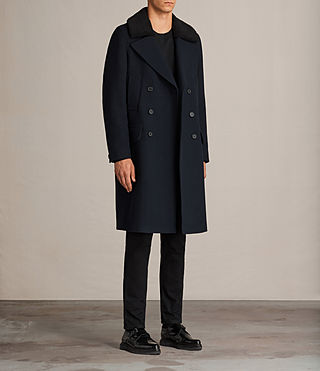 Mens Pelham Coat (INK NAVY) - Image 3