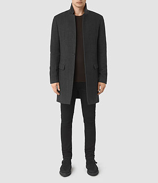 Mens Sigel Coat (Charcoal) - product_image_alt_text_1