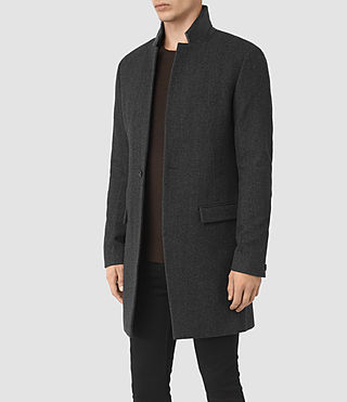 Mens Sigel Coat (Charcoal) - product_image_alt_text_2
