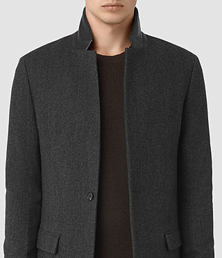 Mens Sigel Coat (Charcoal) - product_image_alt_text_3