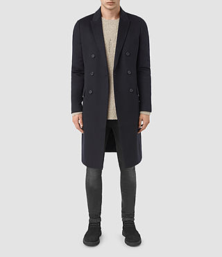 Mens Clissold Coat (INK NAVY) - product_image_alt_text_1