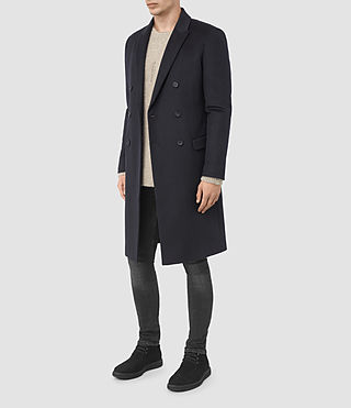 Mens Clissold Coat (INK NAVY) - product_image_alt_text_2