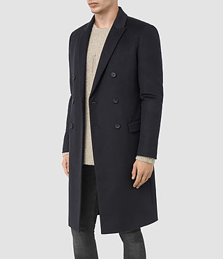 Mens Clissold Coat (INK NAVY) - product_image_alt_text_4