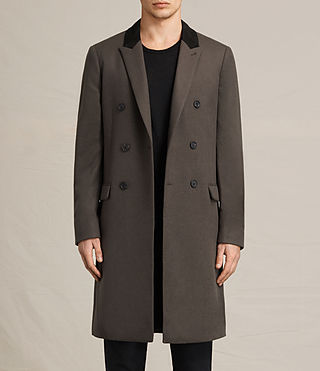 Mens Clissold Coat (Dark Khaki Green)