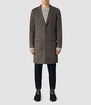 Hommes Malfern Coat (BATTLE BROWN)