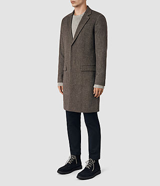 Men's Malfern Coat (BATTLE BROWN) - product_image_alt_text_3