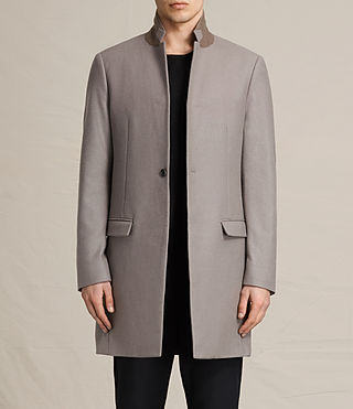 Mens Eskoe Coat (Taupe) - product_image_alt_text_1
