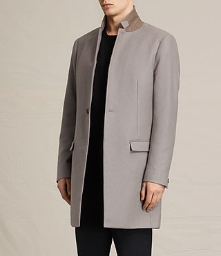 Mens Eskoe Coat (Taupe) - product_image_alt_text_3