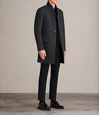 Hommes Manteau Reed (Charcoal Grey) - Image 3