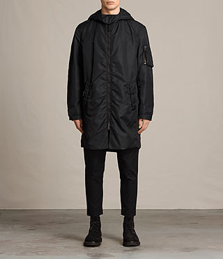 Mens Kudi Parka Coat (Black)