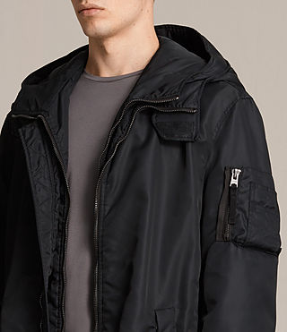 Mens Kudi Parka Coat (Black) - product_image_alt_text_2