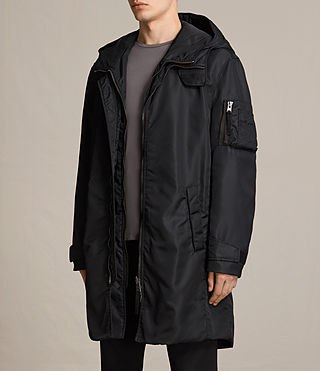 Mens Kudi Parka Coat (Black) - product_image_alt_text_3