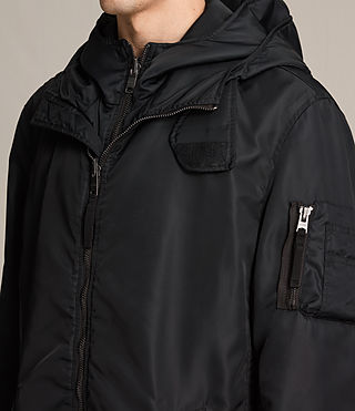 Mens Kudi Parka Coat (Black) - product_image_alt_text_5