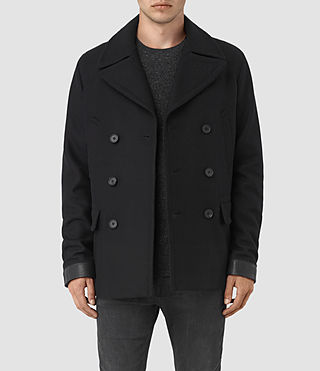 Mens Felix Peacoat (Black) - product_image_alt_text_1