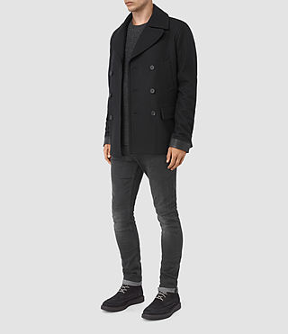 Mens Felix Peacoat (Black) - product_image_alt_text_2