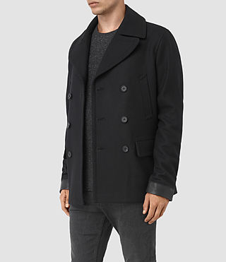 Mens Felix Peacoat (Black) - product_image_alt_text_3
