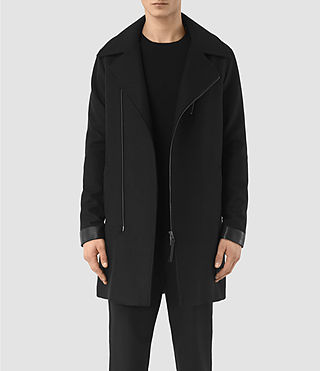 Mens Neco Biker Coat (Black)