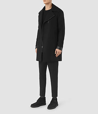 Men's Neco Biker Coat (Black) - product_image_alt_text_2