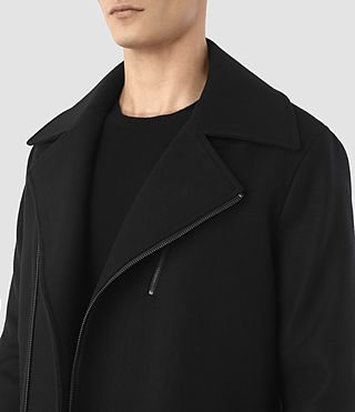 Men's Neco Biker Coat (Black) - product_image_alt_text_3