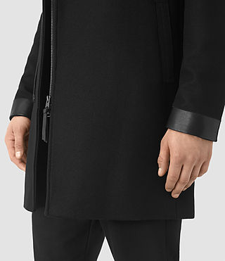 Men's Neco Biker Coat (Black) - product_image_alt_text_4