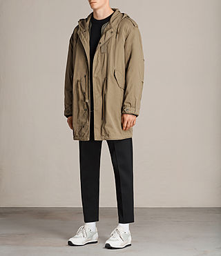 Hommes Parka Dundee (GOLDEN KHAKI GREEN) - product_image_alt_text_3