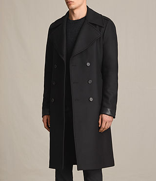 Men's Fenton Coat (Black) - product_image_alt_text_2
