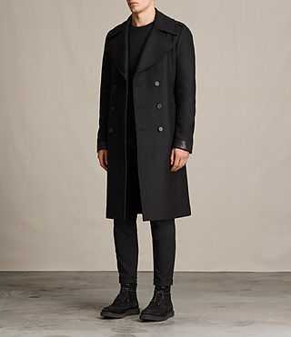 Men's Fenton Coat (Black) - product_image_alt_text_3