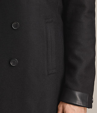Men's Fenton Coat (Black) - product_image_alt_text_4