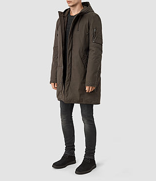 Men's Leyden Parka (Khaki Green) - product_image_alt_text_2