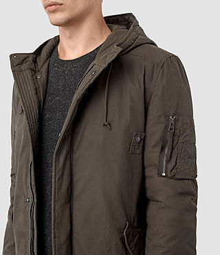 Men's Leyden Parka (Khaki Green) - product_image_alt_text_3