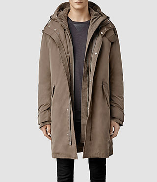 Mens Huntley Parka Jacket (Sand)