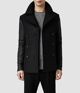 Mens Glade Pea Coat (Ink/Black)