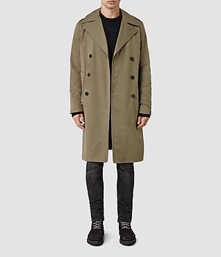 Mens Mies Mac (Khaki Green) - product_image_alt_text_1