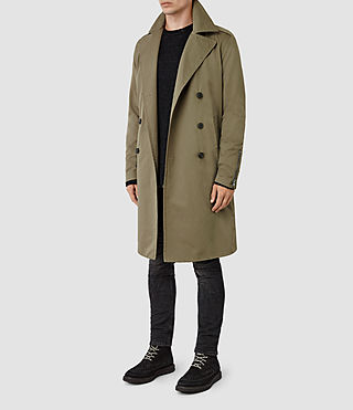 Mens Mies Mac (Khaki Green) - product_image_alt_text_3