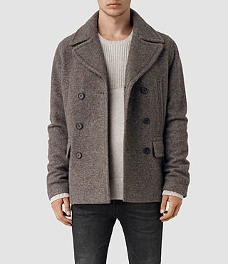 Mens Fyfe Peacoat (Grey) - product_image_alt_text_1