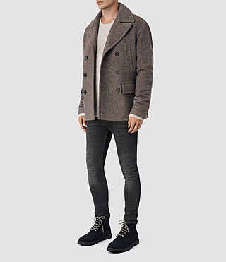 Mens Fyfe Peacoat (Grey) - product_image_alt_text_2