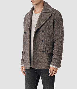 Mens Fyfe Peacoat (Grey) - product_image_alt_text_3